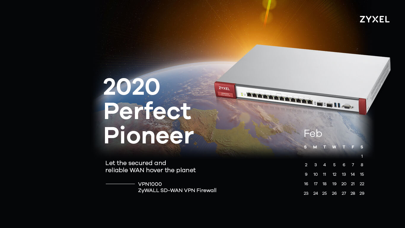 Zyxel 2020 Perfect Pioneer - VPN300 ZyWALL SD-WAN VPN Firewall