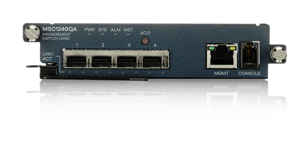 MSC1240QA, Management Card with Four 10 Gigabit SFP+ Open Slots