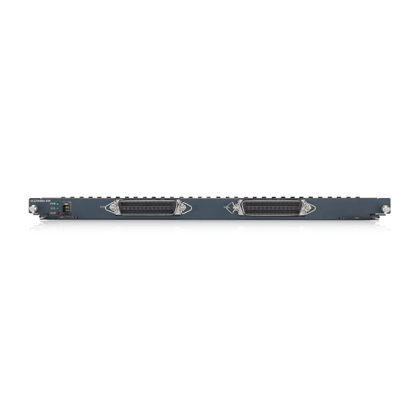 VLC1448X-51F, 48-port Dual-Line Vectoring VDSL2 Annex A Line Card with Built-in ETSI & ANSI POTS Splitter. 17A Profile