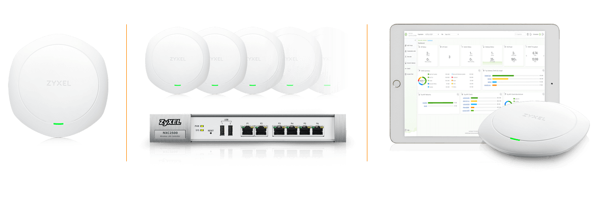 802.11ac Wave 2 Dual-Radio Unified Pro Access Point Zyxel WAC6303D-S