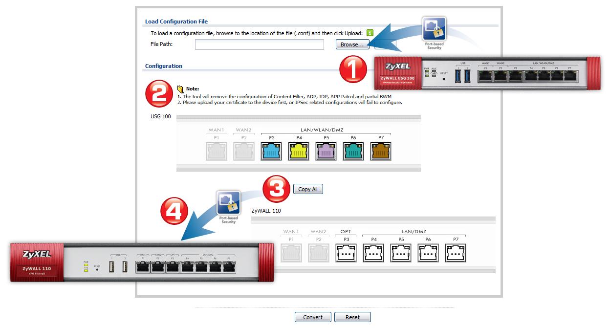 USG Configuration Converter | Zyxel