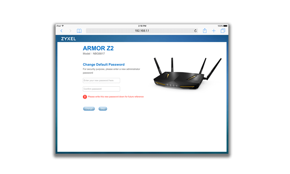 Wifi Router for Fast Gaming & TV Streaming - Zyxel ARMOR Z2