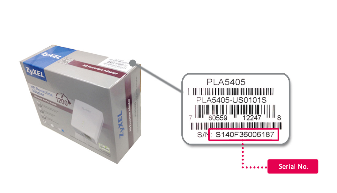 How do I find my Zyxel product Serial Number? | ZyXEL