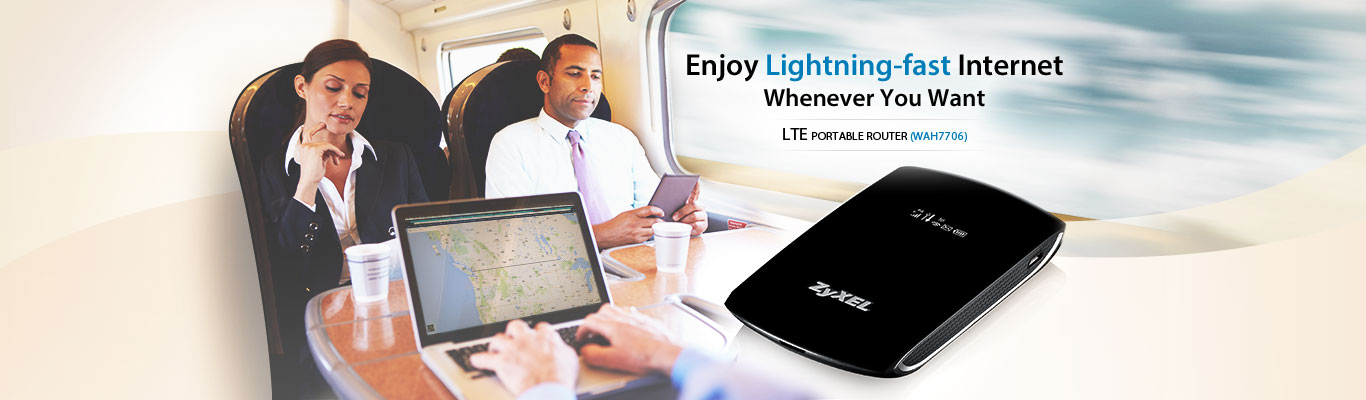 Enjoy Lighting Fast Internet LTE Portable Router WAH7706