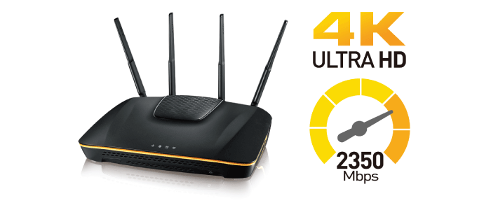 ARMOR Z1 AC2350 Dual-Band Wireless Gigabit Router Blistering network speed