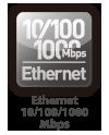 Ethernet 10/100/1000 Mbps