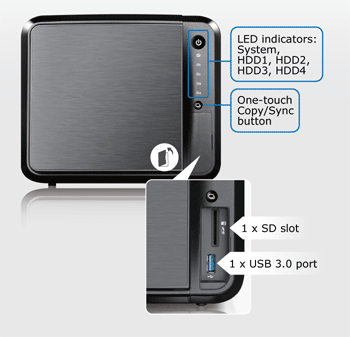 Сетевое хранилище ZyXEL NAS540 на 4 HDD